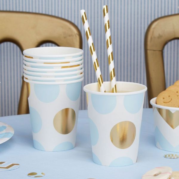 Pattern Works Blue Dot Cups (8)